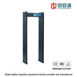 4 zones body scanner détecteur de métal du châssis de porte de protection par mot de passe
