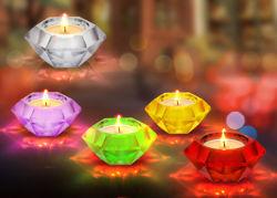 cadeau de promotion de Verre fait main Tealight bougies