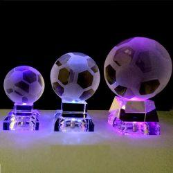 Bola de cristal Decoración casera con luz LED