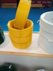 PVC에 의하여 입히는 단련된 절단 바인딩 동점 코일 철강선