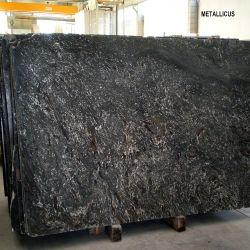 インポートされるまたはInterior DecorationのためのPolished/Natural Black Granite Slab Metallicus