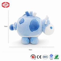 Синий Пасть гиппопотама роскошные мягкие движения Мягкая игрушка для музыки