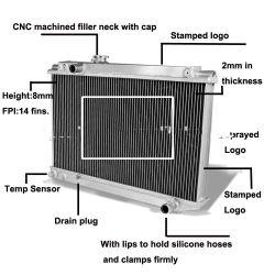 Radiatore di Genset del radiatore di memoria del rame del radiatore del generatore del radiatore di raffreddamento ad acqua