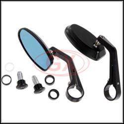 La moto partie les miroirs en verre bleus latéraux de miroirs de Rearview de miroir d'extrémité de barre de coureur de café de l'universel 8mm 10mm de miroir de moto pour le vélo de saleté