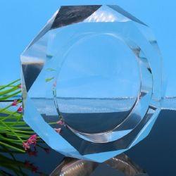 Cenicero de puro cristal redondo para la decoración del hotel