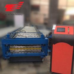 Techo de doble capa conformado de chapa de hoja corrugado de maquinaria máquina de formación