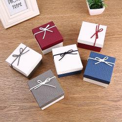 Doreenbeads 2018 Novo arco de estilo japonês de moda bracelete de relógio do nó de embalagem de jóias Caixa de papel exibir 9*8.5*5,5 cm