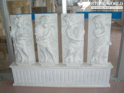 La sculpture de jardin sculptés à la main, statue de marbre blanc figure de pierre à sculpter