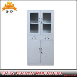 Стеклянные двери выдвижными ящиками металлические книжном шкафу с двумя ящик конторской мебели
