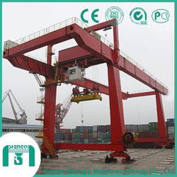 Matériel à usage intensif de port à conteneurs grue monté sur rail (RMG)