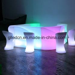 LED de plein air en plastique Glow meubles comptoir de bar Tables droites