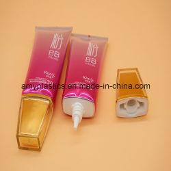 Fabricante de tubos de plástico para el lavado de cara ovalada, Cosmética embalaje de tubos
