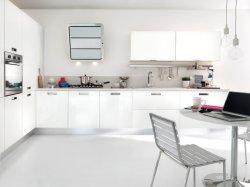 En forma de L moderno MDF laminado con acabado en laca alto brillo kitchen cabinet