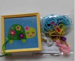 Cruz de artesanato Stitch Stitch Art Kit para Kid's DIY - adorável Tortoise