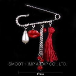 Bijoux Vêtement Décoration Rhinestone broches Broche châle glands chaîne boutonnière