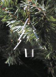 Árvore de Natal travando ornamento pendente de vidro cristal