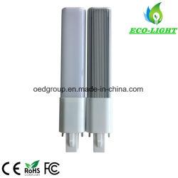 Lampadina a LED G23 a 180 gradi da 8 W a 2 pin con alluminio Coperchio posteriore e PC lattiginoso