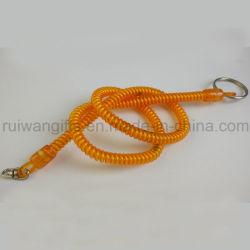 Bungee cable enrollado en espiral de plástico