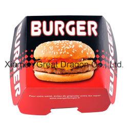 13cmx4см набор из 6 коробок на фальцованных носителях Бургер ящики (BB007)
