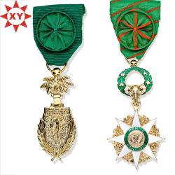 Afrika Medaillen Gold mit Mode handgefertigten grünen Bändern überbändelt
