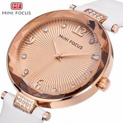 Мини-фокус Логотип роскошь кварцевые часы на запястье для девочек