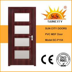 O melhor preço PVC dimensões interiores de porta padrão de madeira (SC-P154)