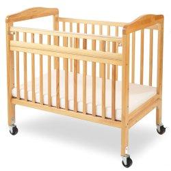 Janela de madeira compacta do bebé com o berço natural da Porta de segurança