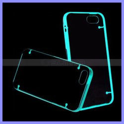 Het dubbele Licht die van de Kleur van de Mengeling omhoog Gloed in het Donkere Mobiele Geval van de Bumper van de Telefoon voor iPhone 6s plus de Rand van Samsung opvlammen S5 S6 S7 neemt nota van 4 5