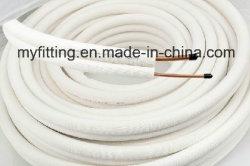 NBR flexíveis de PVC ignifugação de ar condicionado central do tubo de cobre de HVAC isolamento de espuma de borracha do tubo de borracha