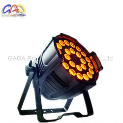 24*18Вт Светодиодные этапе PAR для использования внутри помещений LED PAR может Rgbaw UV LED PAR лампа