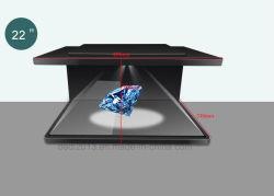 """Dedi 22""""hologramme vitrine de présentation de la technologie 3D avec affichage 180 degrés"""