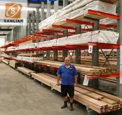 Tubo de madera industrial fontanería carrocería metálica de acero de almacén de madera de telas de almacenamiento en estantería Cantilever