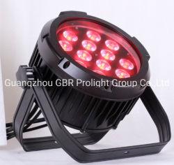 좋은 가격! 12X12W RGBWA+ UV 6 in 1 방수 LED 플랫 캔