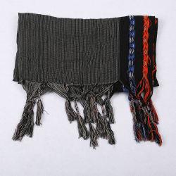 Yarn-Dyed algodão e linho viagens listrado Xale protectores solares