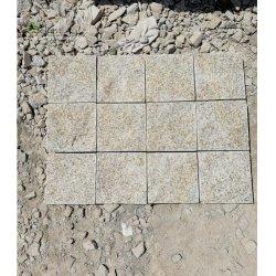 G682 Cube Finisseur de pierre de granit Beige jaune Rusty