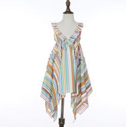 Rainbow enfants simple coton coloré robes et Frocks occasionnels pour bébé fille