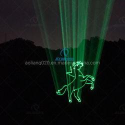 Einzelner grüner Laserlicht-Stadiums-Effekt-Animation-Laser des Träger-10W