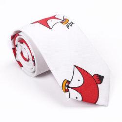 100% algodón de la moda Skinny corbata con diseño de dibujos animados