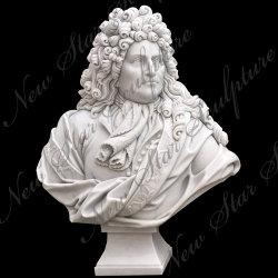순수한 색깔 남자 백색 돌 흉상 훈장 조각품