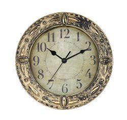 """Ronda de 12,6"""" de estilo europeo, de oro árabe dígitos Reloj de pared de cuarzo de la decoración del hogar"""