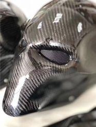Настраиваемые 3K для лица из углеродного волокна шлем мотоцикла