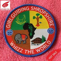 Nouveau design textile tissé de forme de coupe patch pour la sécurité des biens