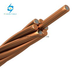 7/2.59мм CCS 30%21% теплопроводность 2AWG Strand меди клад стальная проволока