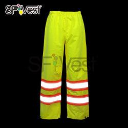 Alta usura del lavoro del pantalone di visibilità della pioggia dell'attrezzo dei pantaloni riflettenti di sicurezza