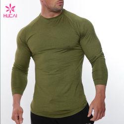 Atletische Kleding van de Mensen van de T-shirt van de Koker van de douane de Lange