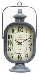 복고풍 디자인 오일 램프 철 테이블 시계