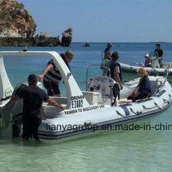 Crogiolo gonfiabile dell'yacht di Liya 22FT Cina di vetroresina rigida di lusso del guscio