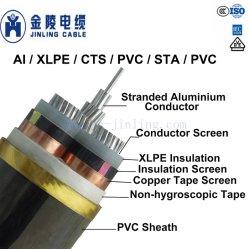 6/10kv aluminium Câble d'alimentation moyenne tension des câbles de 3 coeurs