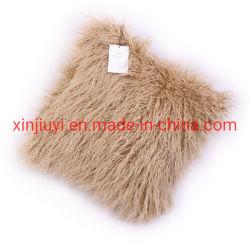 Цветные фигурные Sheepskin Khaki фо мех подушка с норки сзади