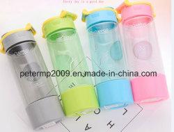 Creative Single-Layer Transparent bouteille d'eau en plastique tube droit